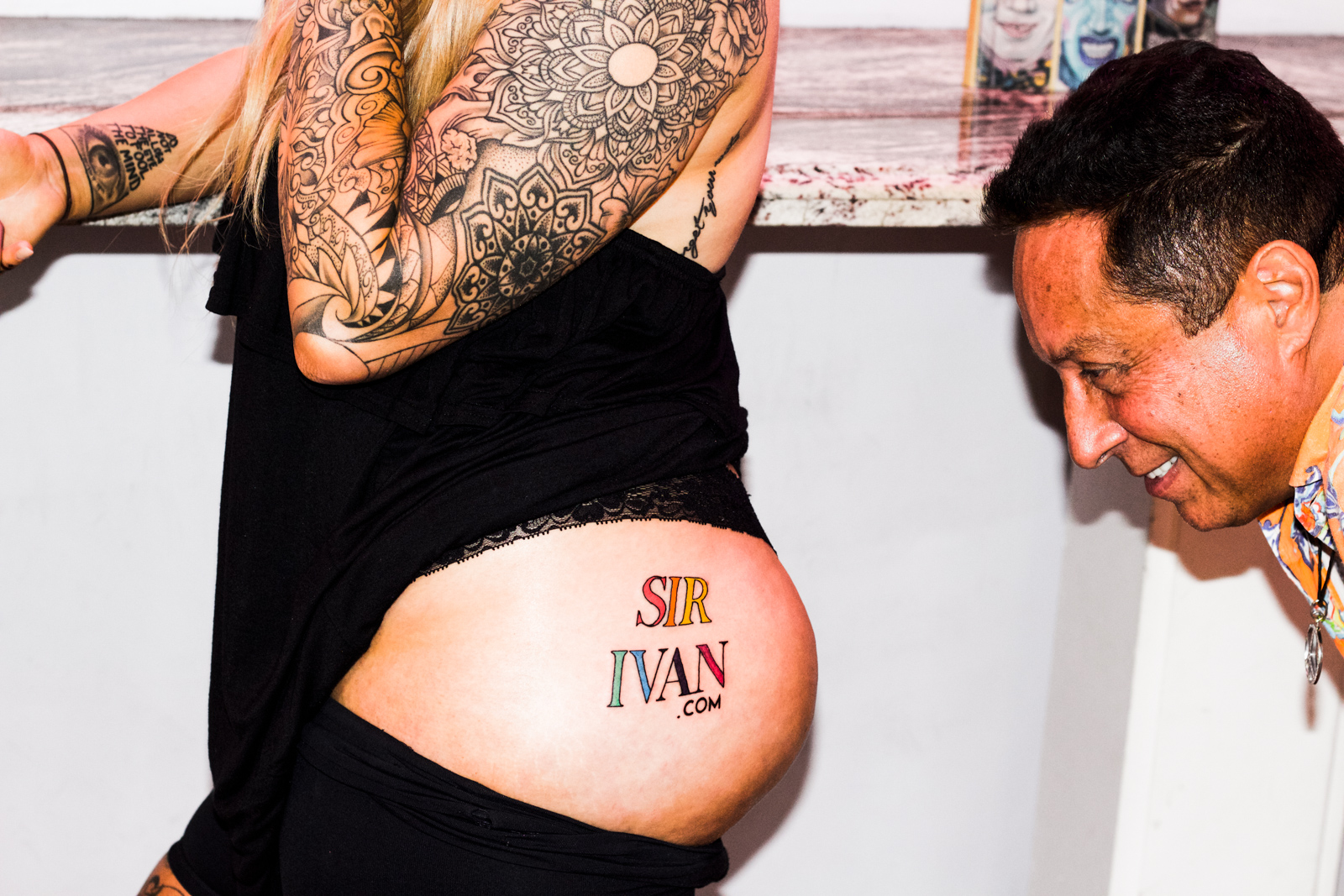 Girl auctions off butt space for tattoo 247 ink magazine for Tattoos on your butt